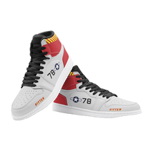 "Load image into Gallery viewer, P-51B ""Kitten"" Inspired Men's High Top Sneakers - I Love a Hangar"