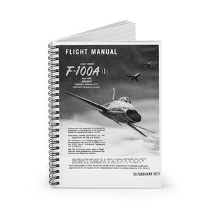 "F-100 ""Super Sabre"" Inspired Spiral Notebook - I Love a Hangar"