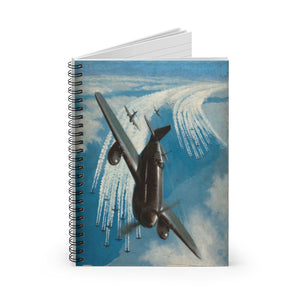 Bomber Group Contrails Inspired Spiral Notebook