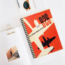 "Load image into Gallery viewer, B-26 ""Marauder"" Inspired Spiral Notebook - I Love a Hangar"
