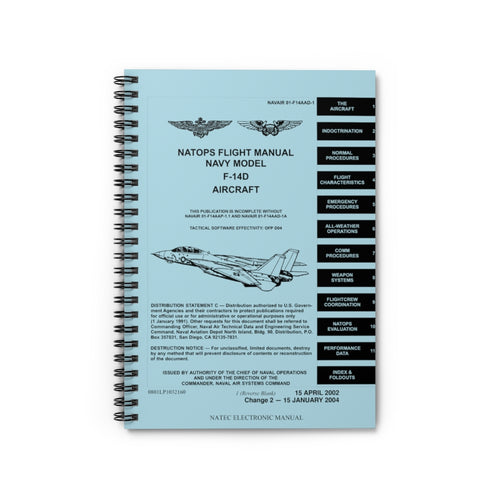 F-14 NATOPS Inspired Spiral Notebook - I Love a Hangar