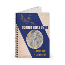 Load image into Gallery viewer, Norden Bombsight Operation Manual Inspired Spiral Notebook - I Love a Hangar