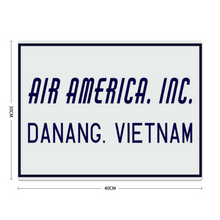 "Load image into Gallery viewer, ""Air America Inc."" Metal Sign 16in x 12in - I Love a Hangar"