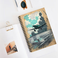 Load image into Gallery viewer, Carrier Operations Inspired Spiral Notebook - I Love a Hangar