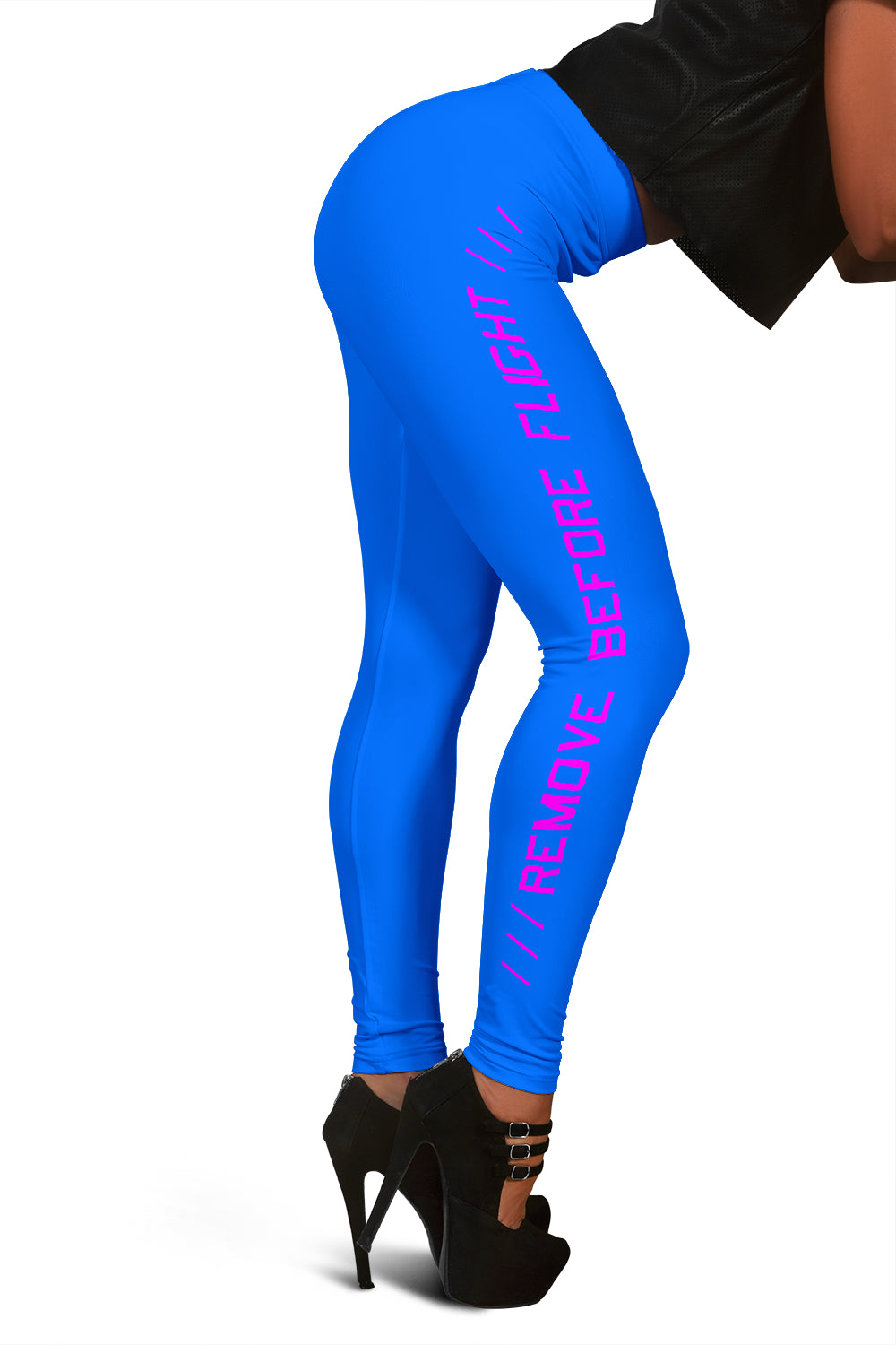 Remove Before Flight Leggings - Blue - I Love a Hangar