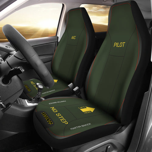Martin-Baker Inspired Ejection Seat Car Seat Covers - Pilot/AIC - I Love a Hangar