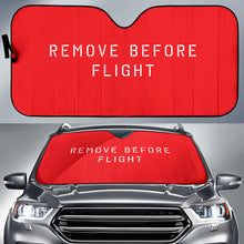 Load image into Gallery viewer, Remove Before Flight Auto Sun Shade - I Love a Hangar