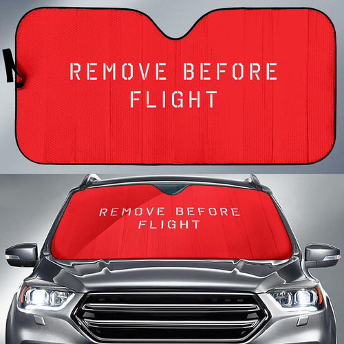 Remove Before Flight Auto Sun Shade - I Love a Hangar