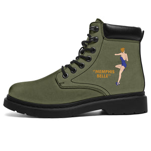 "B-17F ""Memphis Belle"" Women's All-Season Boots - I Love a Hangar"