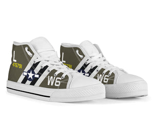 "C-47 ""Willa Dean"" Inspired Men's High Top Canvas Shoes - I Love a Hangar"