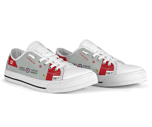 RCAF CT-114 Tutor Inspired Women's Low Top Canvas Shoes (#067) - I Love a Hangar