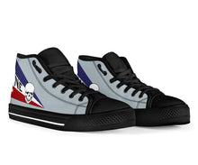 Load image into Gallery viewer, VF-2 Bounty Hunters F-14D Inspired Women's High Top Canvas Shoes - I Love a Hangar