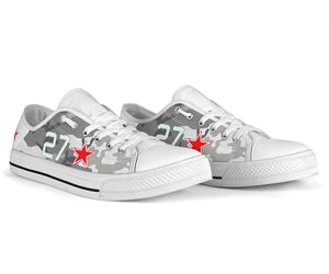 "Lavochkin La-7 ""White 27"" Inspired Women's Low Top Canvas Shoes - I Love a Hangar"