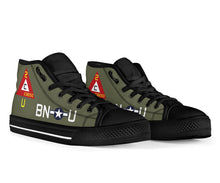 "Load image into Gallery viewer, B-17G ""Thunderbird"" Inspired Men's High Top Canvas Shoes - I Love a Hangar"