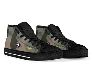 "B-52G ""Midnight Express"" Inspired Women's High Top Canvas Shoes - I Love a Hangar"