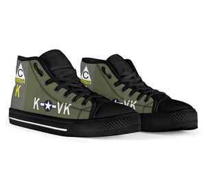 "B-17F ""Meat Hound"" Inspired Men's High Top Canvas Shoes - I Love a Hangar"