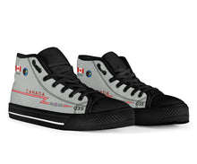 Load image into Gallery viewer, RCAF CF-101 Voodoo 409 SQN Inspired Women's High Top Canvas Shoes - I Love a Hangar