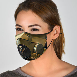 Face Mask - Inspired by WWII Fighter Pilot - I Love a Hangar