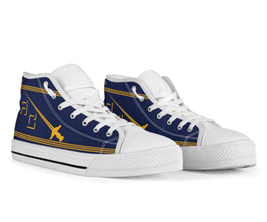 VF-32 Fighting Swordsmen Inspired Women's High Top Canvas Shoes - I Love a Hangar