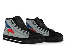 Load image into Gallery viewer, JASDF 302nd TFS Inspired Men's High Top Canvas Shoes - I Love a Hangar