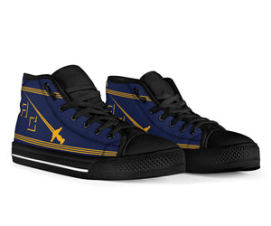 VF-32 Fighting Swordsmen Inspired Men's High Top Canvas Shoes - I Love a Hangar