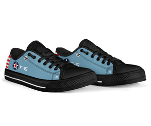 "F4F Wildcat of ""Butch"" O'Hare Inspired Women's Low Top Canvas Shoes - I Love a Hangar"