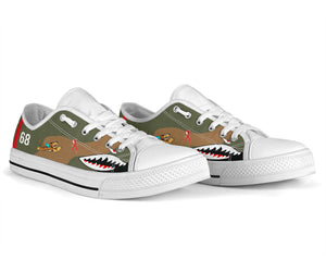 "P-40B ""Flying Tigers"" Inspired Men's Low Top Canvas Shoes - I Love a Hangar"