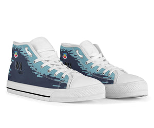 "64th Aggressor Squadron F-16C ""Ghost""  Inspired Men's High Top Canvas Shoes - I Love a Hangar"