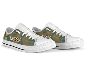 "Hawker Hurricane of ""Willie"" McKnight Inspired Women's Low Top Canvas Shoes - I Love a Hangar"