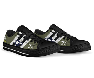 "C-47 ""That's All, Brother"" Inspired Women's Low Top Canvas Shoes - I Love a Hangar"