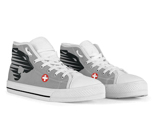 "Fliegerstaffel 18 ""Panthers"" Inspired Men's High Top Canvas Shoes - I Love a Hangar"