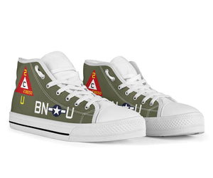"B-17G ""Thunderbird"" Inspired Men's High Top Canvas Shoes - I Love a Hangar"