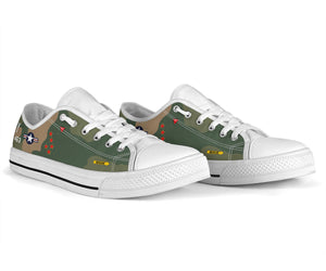 "F-4D Phantom ""Buick 01"" Inspired Men's Low Top Canvas Shoes - I Love a Hangar"