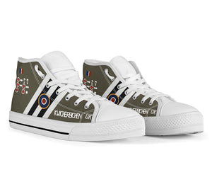"C-47 ""Kwicherbichen"" Inspired Men's High Top Canvas Shoes - I Love a Hangar"