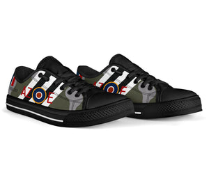 "DH.98 Mosquito of ""Guy Gibson"" Inspired Men's Low Top Canvas Shoes - I Love a Hangar"