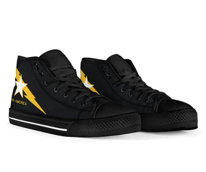 VF-33 Starfighters Inspired Men's High Top Canvas Shoes - I Love a Hangar