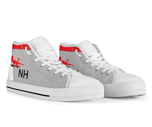 VF-114 Aardvarks F-14 Inspired Men's High Top Canvas Shoes - I Love a Hangar