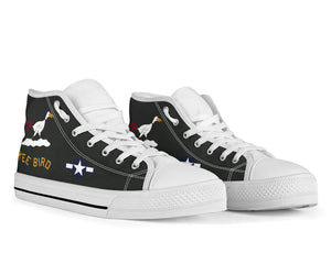 "B-29 ""Kee Bird"" Inspired Women's High Top Canvas Shoes - I Love a Hangar"