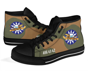 "AVG ""Flying Tigers"" Inspired Women's High Top Canvas Shoes - I Love a Hangar"