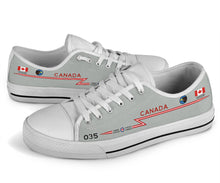 Load image into Gallery viewer, RCAF CF-101 Voodoo 409 SQN Inspired Men's Low Top Canvas Shoes - I Love a Hangar