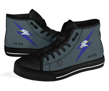 Load image into Gallery viewer, RAAF 6 Squadron F-111C Inspired Women's High Top Canvas Shoes - I Love a Hangar