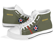 "Load image into Gallery viewer, B-25 ""Doolittle Raiders"" Inspired Women's High Top Canvas Shoes - I Love a Hangar"