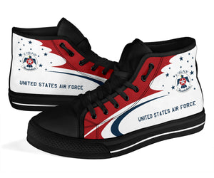 USAF Thunderbirds Display Team Inspired Women's High Top Canvas Shoes - I Love a Hangar
