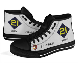 "B-29 ""Fu-Kemal"" Inspired Women's High Top Canvas Shoes - I Love a Hangar"