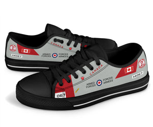 RCAF CT-114 Tutor Inspired Women's Low Top Canvas Shoes
