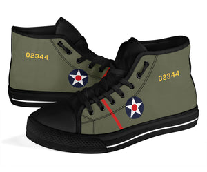 "B-25 ""Doolittle Raiders"" Inspired Men's High Top Canvas Shoes - I Love a Hangar"