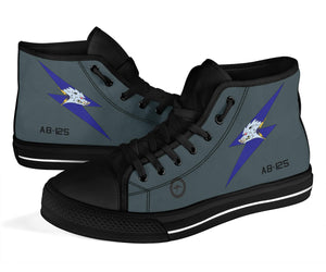 RAAF 6 Squadron F-111C Inspired Men's High Top Canvas Shoes - I Love a Hangar