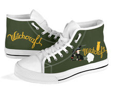 "Load image into Gallery viewer, B-24 ""Witchcraft"" Inspired Men's High Top Canvas Shoes - I Love a Hangar"
