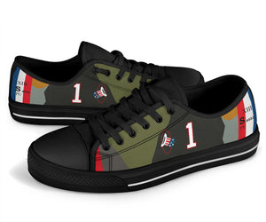 SPAD XIII of Capt. Eddie Rickenbacker Inspired Women's Low Top Canvas Shoes - I Love a Hangar