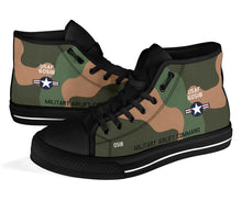 Load image into Gallery viewer, C-130A Hercules Inspired Men's High Top Canvas Shoes - I Love a Hangar